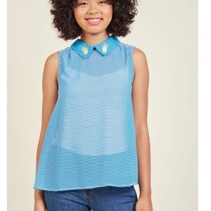 NEW ModCloth Pineapple Striped Top